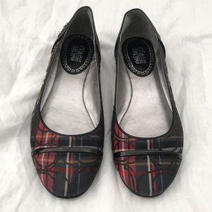 Coach Plaid Ballet Flats